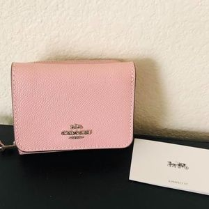 Coach Trifold pink carnation wallet